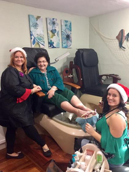 Pedicure Pampering in Wyoming County Hair Salon Toe Nail Care