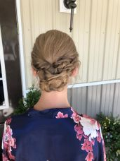brittany wedding style bridal party up do updoo updo braid bride bridesmaid mother of the bride