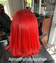 Red Hot Hair Color by Alina