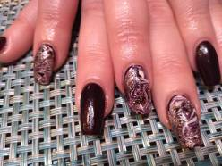 Marblized Nails by Debbie